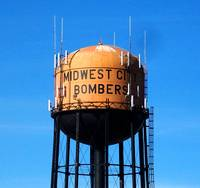 Midwest City Bombers Water Tower