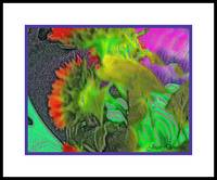 pastel sunflowers abstract