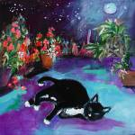 """Dreaming Under The Moon  Painting by GInette"" by GinetteCallaway"