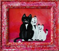 Family Folk Art Painting by Ginette Callaway