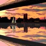 """Under the Bridge"" by mingoartstudio"