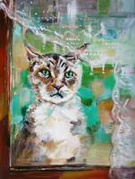 Please Let Me In Painting by Ginette Callaway