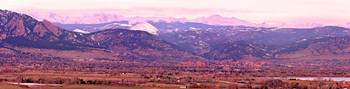 Boulder Colorado Panorama Sunrise