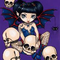 """Spiders and Skulls"" by Jasmine Becket-Griffith"