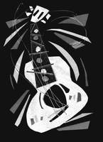 dancing guitar (black and white)