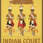 """Golgden Gate Exposition Indian Court WPA Poster"" by worldwidearchive"