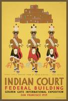 Golgden Gate Exposition Indian Court WPA Poster