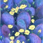"""Purple Cactus Flowers"" by theartistfemme"