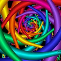 Rainbow Tunnel Art Prints & Posters by Julie Everhart