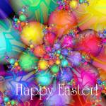 """Easter Eggs & Jelly Beans with Happy Easter Text"" by JulieEverhart"