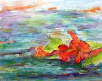 Floating Hibiscus Flower By Ginette Callaway