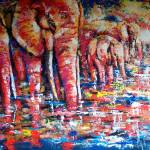 """Elephants at Dawn"" by claudemarshall"