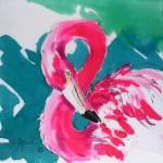"""Fabulous Flamingo Print"" by Greerdesigns"