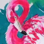 """Fabulous Flamingo #2"" by Greerdesigns"