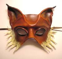 Fox Half Face Leather Mask by Teonova