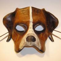 Leather Dog Mask by Teonova