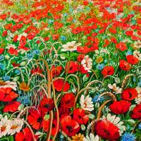 POPPIES IN THE WILD Art Prints & Posters by KARIN DAWN BEST
