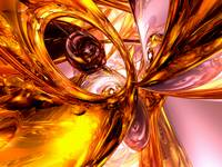 Golden Maelstrom Abstract