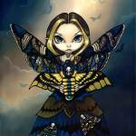 """Moth Queen: Acherontia Atropos"" by strangeling"