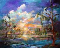Georgia Landscape OKEFENOKEE Magic by Ginette