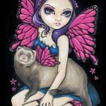 """Ferret with Butterfly Wings"" by strangeling"