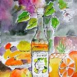 """Lemon De Monin Still Live Watercolor by Ginette"" by GinetteCallaway"