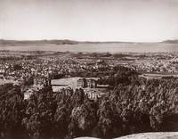 Berkeley Campus overview c1880 towards Golden Gate by WorldWide Archive
