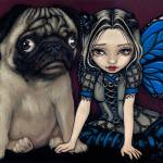 """Pug Pixie"" by strangeling"