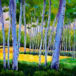 """View through Aspens"" by jhfineart"
