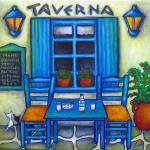 """Table for Two  in Greece"" by LisaLorenz"