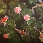 """Koi Pond in Moonlight"" by DeniseMarieSaylor"