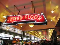 Lower Floor Sign at Pike Place Market