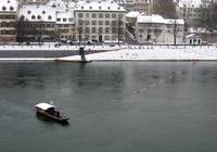 Ferry on the Winter Rhein