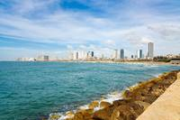 View Tel-Aviv from Yafo port.