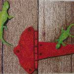 """Geckos on Rusty Hinge"" by WayneStierArt"