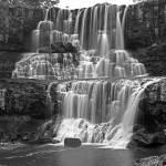 """Ebor falls,B&W,Australia"" by Leksele"