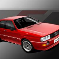 Audi Quattro Art Prints & Posters by Russell Wallis