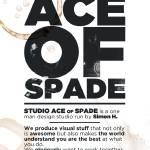"""Studio Ace of Spade - Monthly poster series 02.10"" by simonh4"