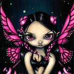 """Pink Butterfly Fairy"" by strangeling"