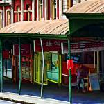 """Queen Street Shops Panorama"" by johncorney"