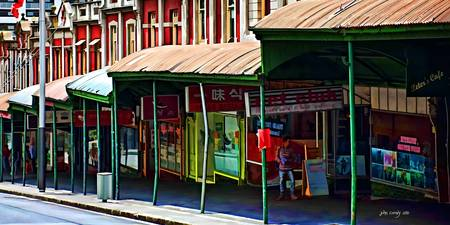 Queen Street Shops Panorama