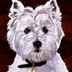 """West Highland Terrier"" by marjoriepesekfineart"