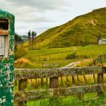 """River Road Petrol Pump Panorama"" by johncorney"