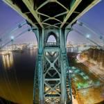 """Williamsburg Bridge Fish-eye view, 2008"" by undercity"