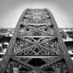 """Hellgate Bridge Steel Arch B&W NYC 2007"" by undercity"