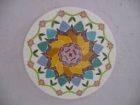 Mosaic lotus flower