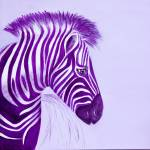 """Zebra Purple Popart"" by Spangles44"