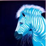 """Zebra Blue Popart"" by Spangles44"