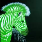 """Zebra Green Pop Art"" by Spangles44"