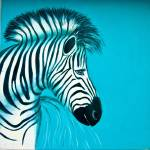 """Zebra Blue Popart Pop Art Paintings"" by Spangles44"